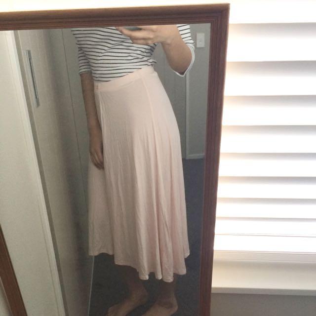 New blush skirt