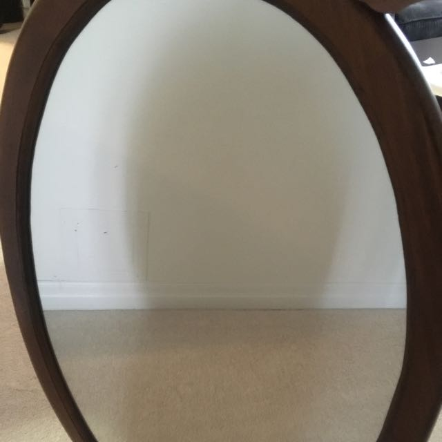 Oval Oak Mirror