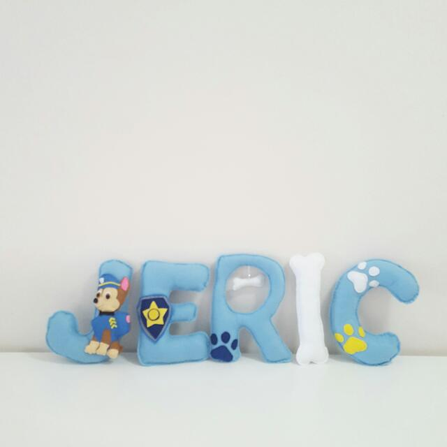 Paw Patrol Personalised Baby Shower Name Banner Babies Kids Toys