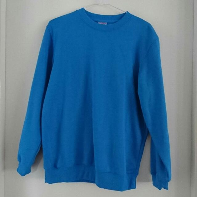 Plain Blue Jumper