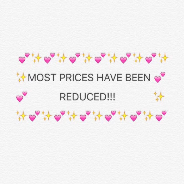 PRICES HAVE DROPPED!!!