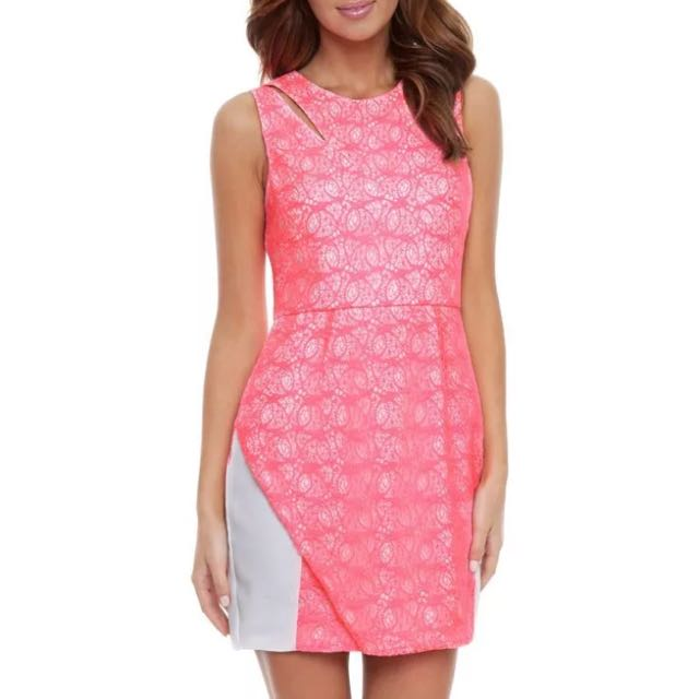 Seduce Brand New 8 Hot Pink Lace Dress