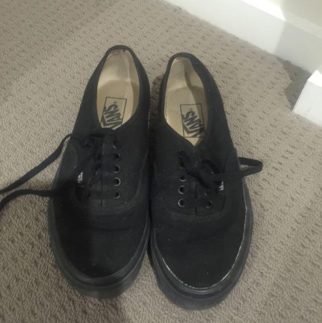 Size 8.5 Women's Black Vans