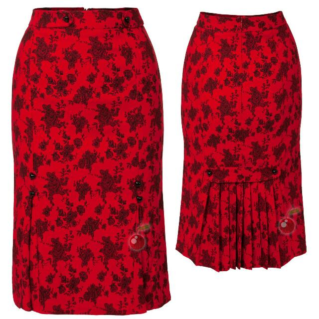 Stunning Voodoo Vixen Skirt,  Brand New In Immaculate Condition Size (10/12) Pinup Girl Rockabilly 50's Style Wiggle Skirt