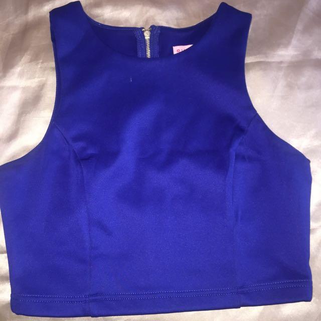 Supre Cobalt Blue Crop Top