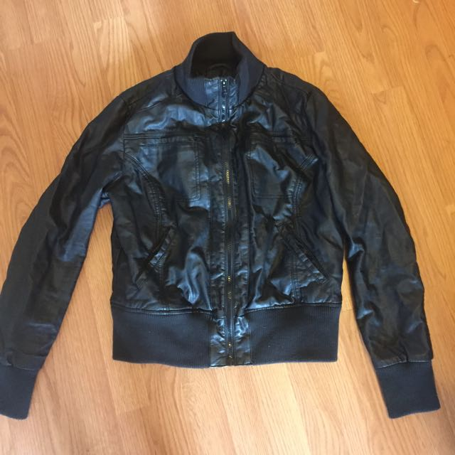 Target Faux-Leather Jacket