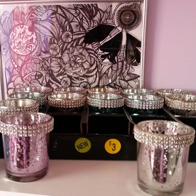Tea Light Candle Holders Bling