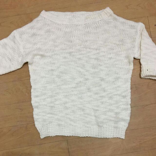 Terranova White Knit Top