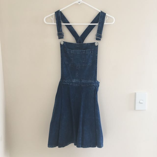 Topshop Dungaree Dress Pinafore