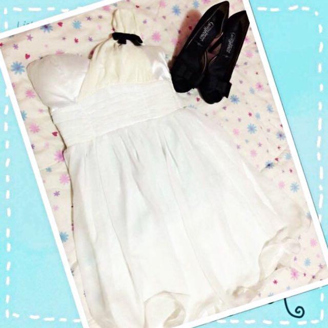 🌸WHITE FORMAL DRESS