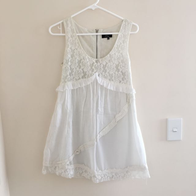White Lacey Dress From Rage