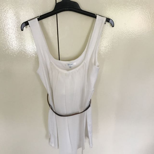 White Valley Girl Top With Belt