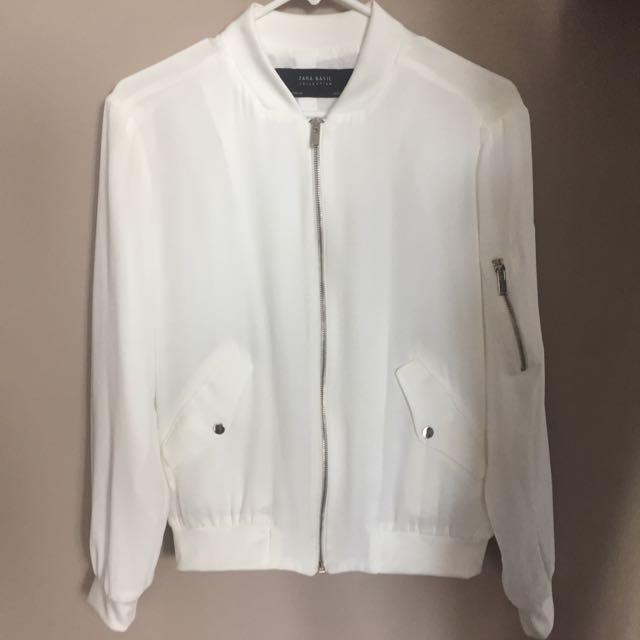 Zara Crepe Bomber Jacket