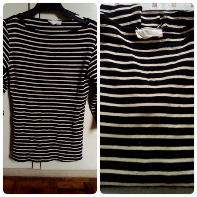 Zara Organic Cotton Black Stripe(m)