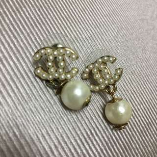 Chanel珍珠耳環