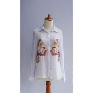 / Pull & Bear White Shirt /