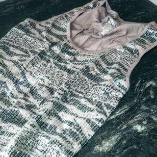 Sequins & Leopard print GEORGE Tank Top. Like NEW