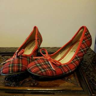Red Check Shoes