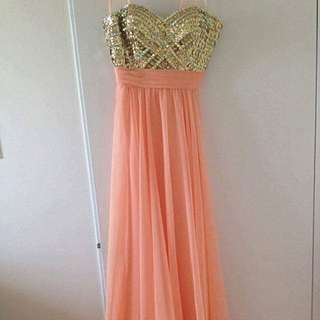 Imported La Femme Long Orange Dress