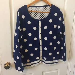 Spotty Blue Jumper