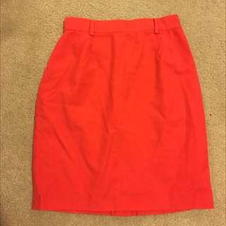 Escada Orange Skirt