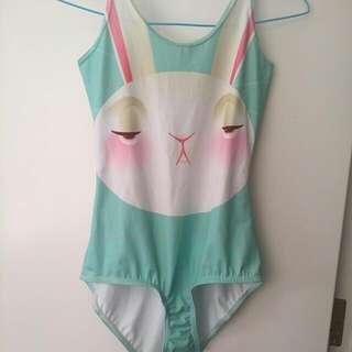 BlackMilk Not Impressed Bunny Swimsuit XS