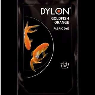 Dylon fabric dye goldfish orange