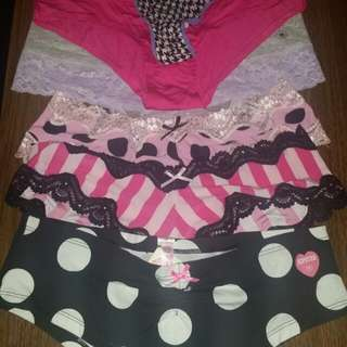 Bnwt Victoria secret,pink,lasenza, Aerie panties..never Worn Never Tried On