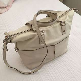 Tod's Off White Colour Leather Handbag