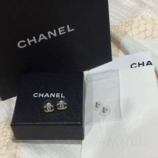 Reserved Until 6/11! Authentic Chanel Small Crystal Earrings