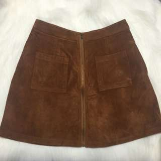 Brown Suede Skirt