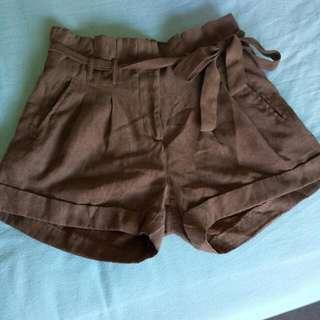 Miss Shop Paper Bag Shorts