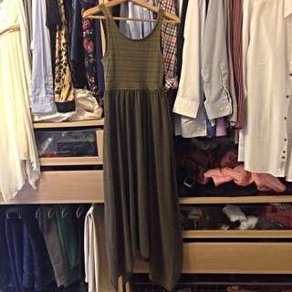 H&M 洋裝 裙擺剪綵很美 (買1送1)