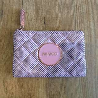 Mimco Pink Mesh Mash Pouch Small