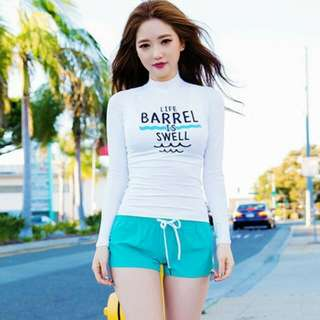 (PO) Barrel Is Swell *White & Blue*