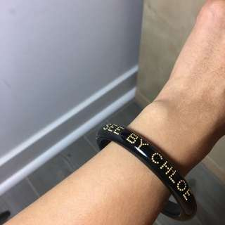 See By Chloe Black Bangle
