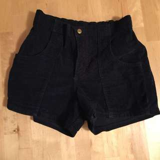 American Apparel Navy Corduroy Shorts Size27