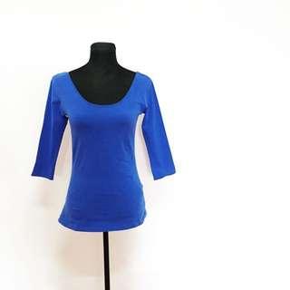 Stradivarius Blue Ballerina Top