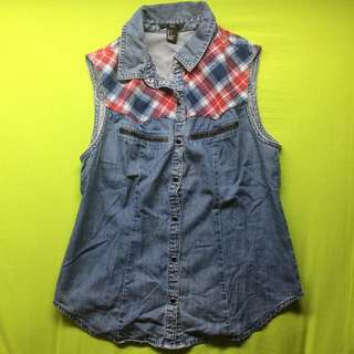 Forever 21 Denim Top