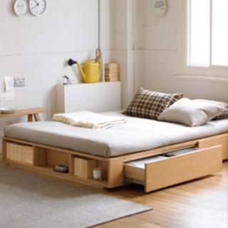 Muji Double Bed with Ikea Mattress