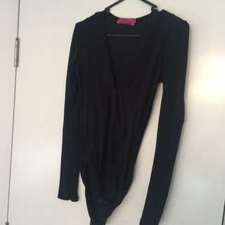 BOOHOO low Cut Body Suit Size 8-10