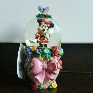 Original Walt Disney Minnie Glass Snowglobe