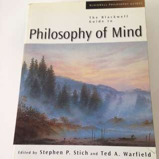 The Blackwell Guide to Philosophy of Mind Book