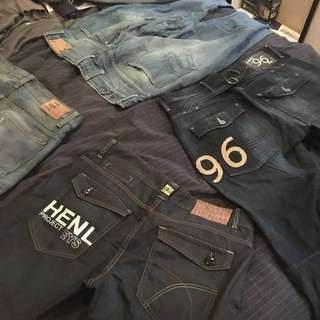 G-STAR AND HENLYS JEANS