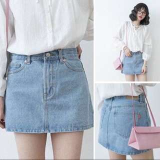 KOREAN STYLENANDA INSPIRED DENIM A LINE SKIRT