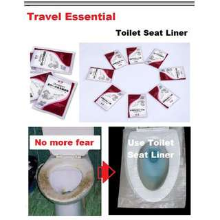 10 pcs Disposable Toilet Seat Liner