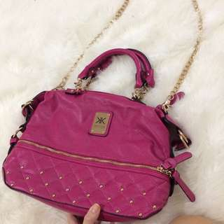 Kardashian Kollection Dark Pink Handbag Genuine