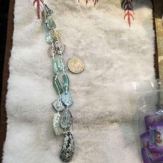 羅馬琉璃項鍊有彩色光!33公分長