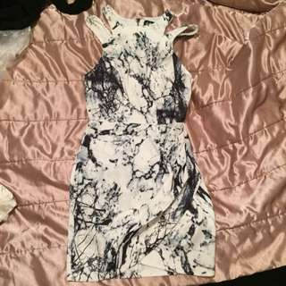 Marble Print Dress Size 8