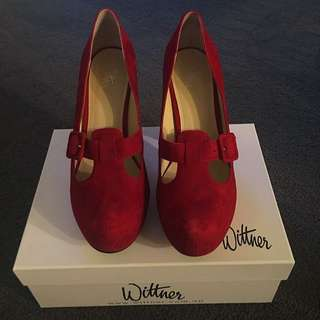 Wittner Red Suede Shoes
